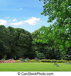 été, parc