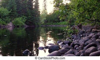 été, rivière, beau