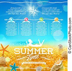 été, voyage, conception, vacances