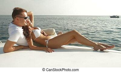 été, yacht, vacances