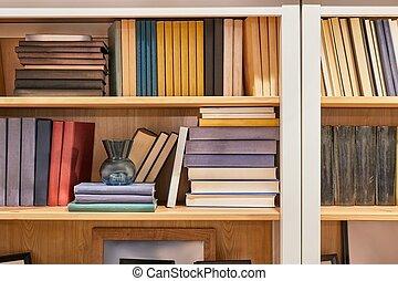 étagère, livres