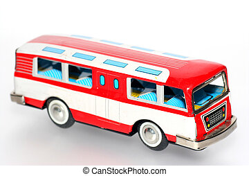 étain, autobus, jouet