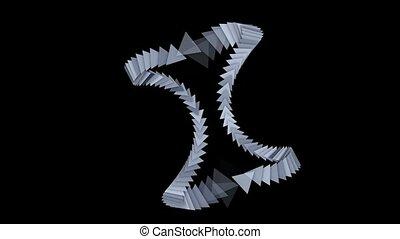étalage, flèche, cartes, triangle