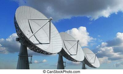 étalage, plats satellite