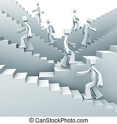 étapes, concept, croissance, reussite