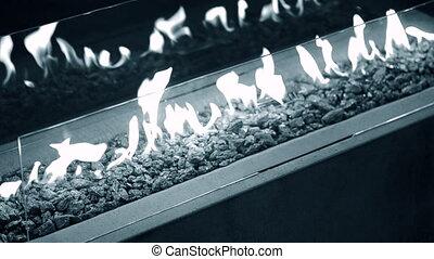 éthanol, moderne, gas., fireplot, bio, cheminée