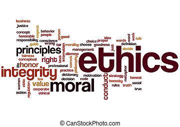 éthique, mot, nuage