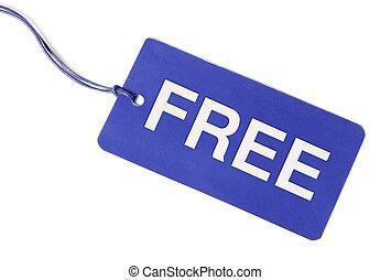 étiquette, gratuite