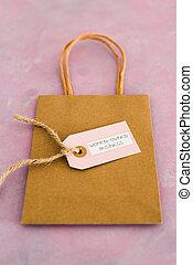 étiquette, women-owned, sac, business, égalité, achats, soutenir