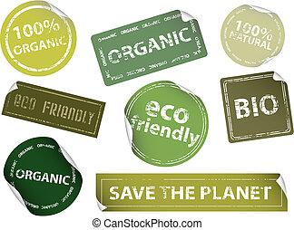étiquettes, eco-amical