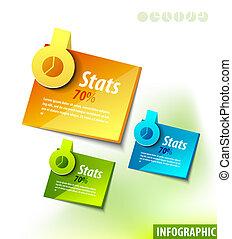 étiquettes, infographics