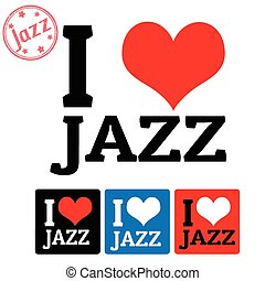 étiquettes, jazz, amour, signe