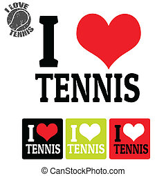 étiquettes, tennis, amour, signe
