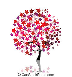 étoilé, arbre, fantasme