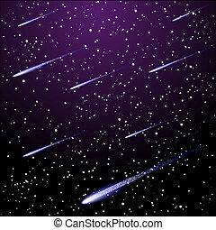 étoilé, ciel nuit