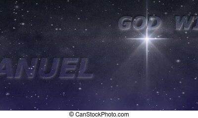 étoilé, -, emmanuel, boucle, nuit, hd