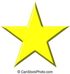 étoile, 3d