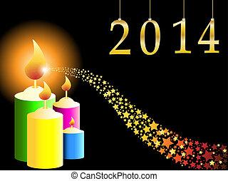 étoile, année, nouveau, tir, 2013, heureux