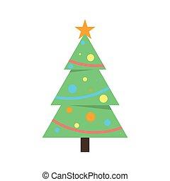étoile, arbre, noël