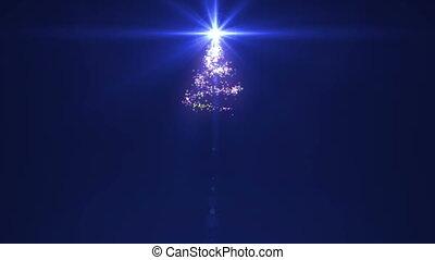 étoile, arbre noël, sommet