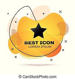 étoile, banner., couleur, favori, mieux, fluide, illustration, isolé, arrière-plan., vecteur, noir, récompense, classement, blanc, symbole., icône