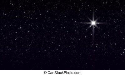 étoile, bethlehem, boucle