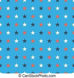 étoile bleue, bleu, soild, lumière, couleurs, seamles, modèle fond, blanc rouge