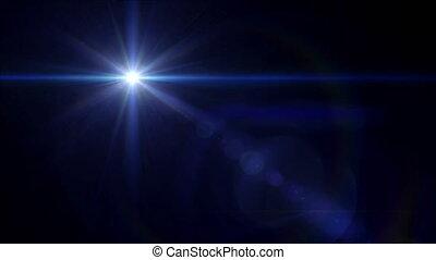 étoile bleue, flamme, croix, lentille, 4k