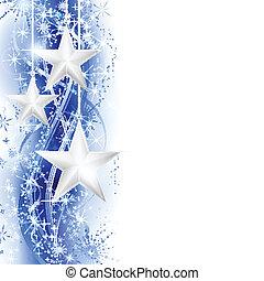 étoile bleue, frontière, argent