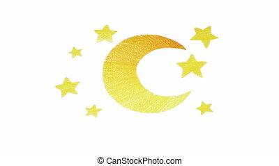 étoile, boucle, lune