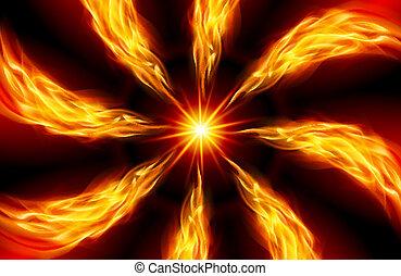 étoile brillante, ardent