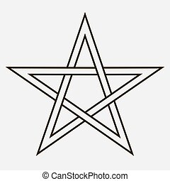 étoile, cinq-pointu
