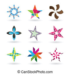 étoile, contemporain, icônes