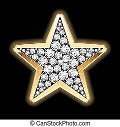 étoile, diamants