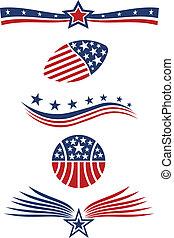 étoile, drapeau, conception, usa, icône