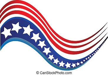 étoile, drapeau etats-unis, conception, brochure, logo