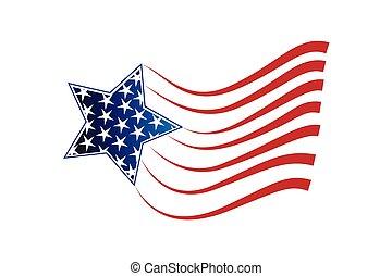 étoile, drapeau, logo, usa