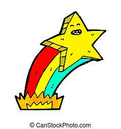 étoile filante, dessin animé