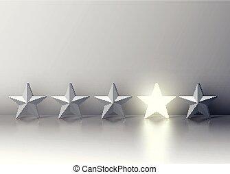 étoile, foule, ceux, gris, illustration, incandescent, vecteur, ressortir