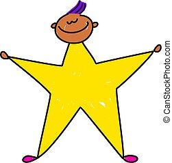étoile, gosse