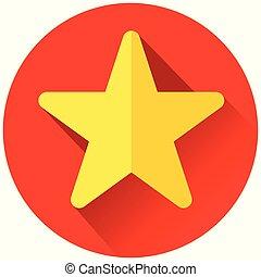 étoile, jaune rouge, icône