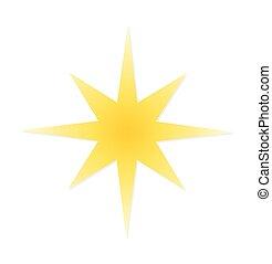 étoile, noël, icône