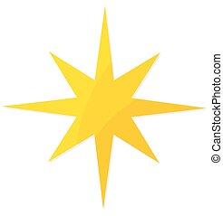 étoile, noël, jaune