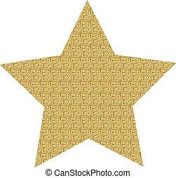 étoile, or, icône
