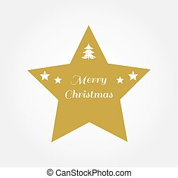 étoile, or, noël, symbole.