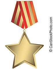 étoile, or, (vector)
