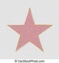 étoile, renommée, fond, transparent