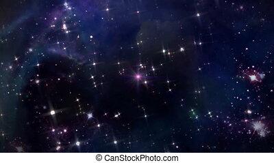 étoile rose, croix, espace