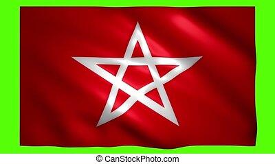 étoile, rouges, chroma, écran, drapeau, clef verte, symbole
