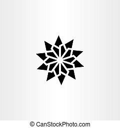 étoile, symbole, signe, vecteur, noir, géométrique, élément, icône